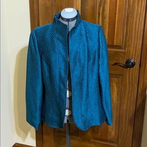 Coldwater Creek blue dress jacket